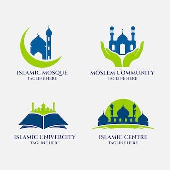 Conjunto de diferentes logotipos islámicos.