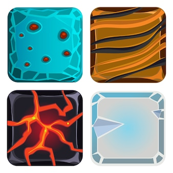 Conjunto de diferentes materiales y texturas