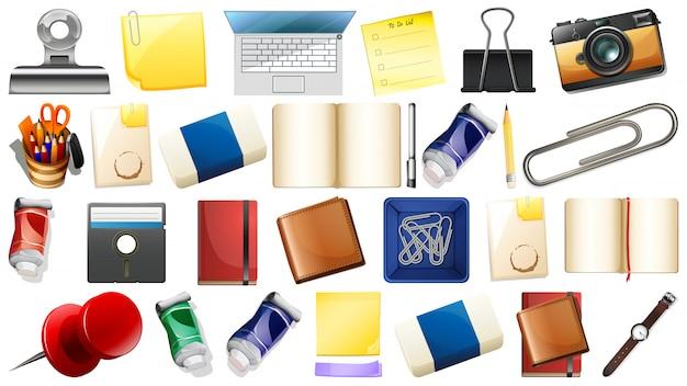 Conjunto de diferentes objetos