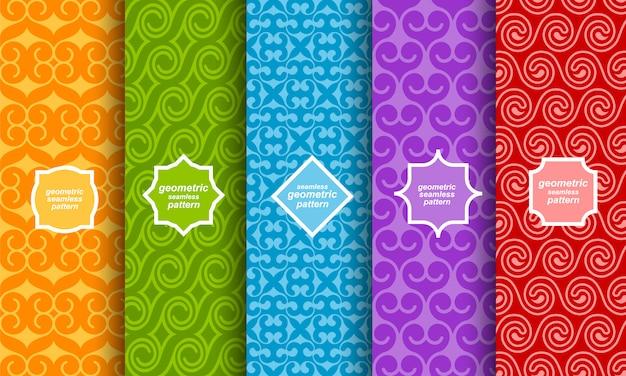 Conjunto de diferentes patrones sin fisuras brillante
