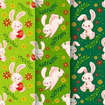 Conjunto de diferentes patrones lindos de pascua