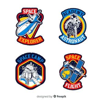 Conjunto de diferentes pegatinas con espacio