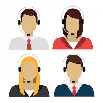 Conjunto de diferentes personas avatar