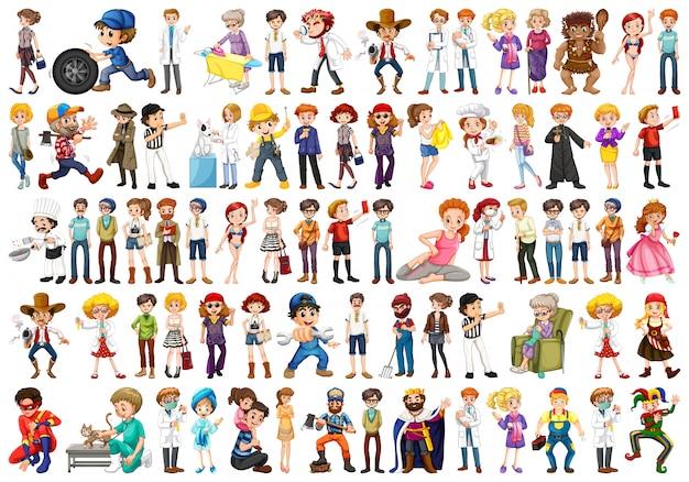 Conjunto de diferentes personas