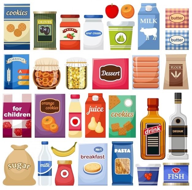 Conjunto de diferentes productos.