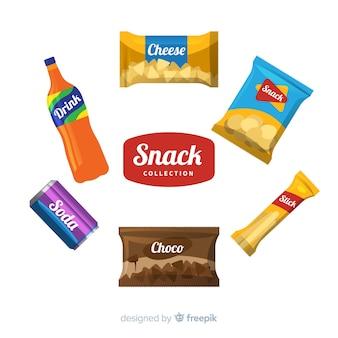 Conjunto de diferentes snacks