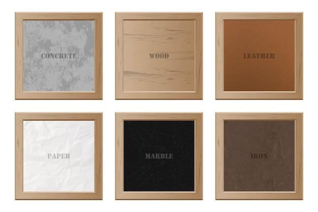 Conjunto de diferentes texturas.