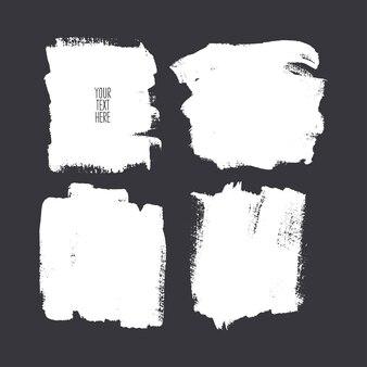Conjunto de diferentes trazos de pincel cuadrado. ilustración dibujada a mano