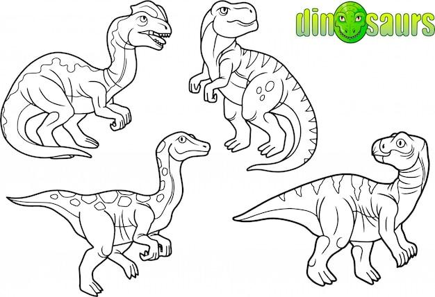 Conjunto de dinosaurios divertidos