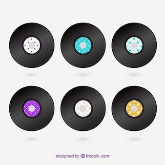 Conjunto de discos de vinilo