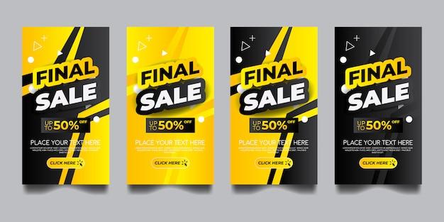 Conjunto de diseño de banner vertical de venta final