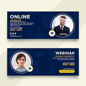 Conjunto de diseño de banners de webinar
