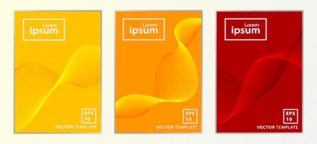 Conjunto de diseño de cubierta de folleto de negocio mínimo