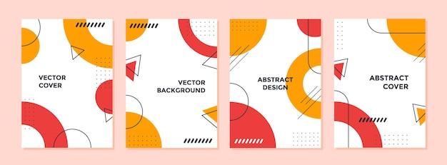 Conjunto de diseño de cubierta geométrica creativa abstracta