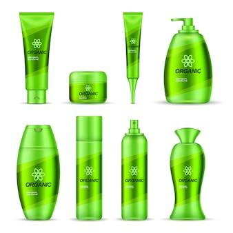 Conjunto de diseño de envases serie cosmética