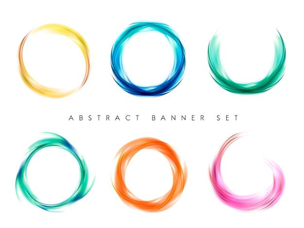 Conjunto de diseño de fondo abstracto colorido
