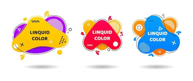 Conjunto de diseño de ilustración de elementos gráficos modernos abstractos