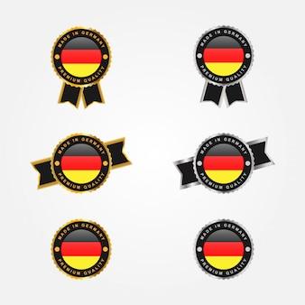Conjunto de diseño de insignia de emblema made in germany