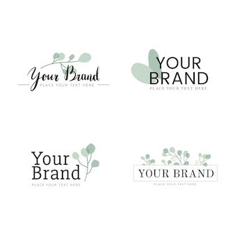 Conjunto de diseño de logo natural