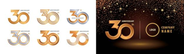 Conjunto de diseño de logotipo de 30 aniversario