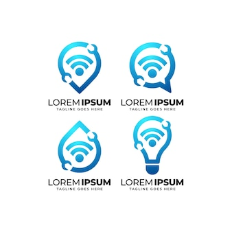 Conjunto de diseño de logotipo de conexión de reparación