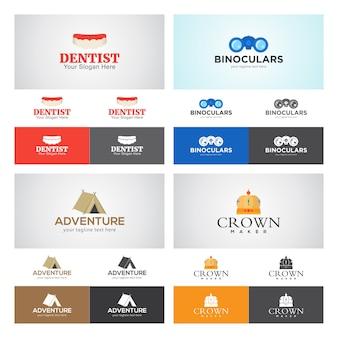 Conjunto de diseño de logotipo corporativo