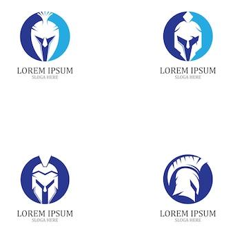 Conjunto de diseño de logotipo espartano