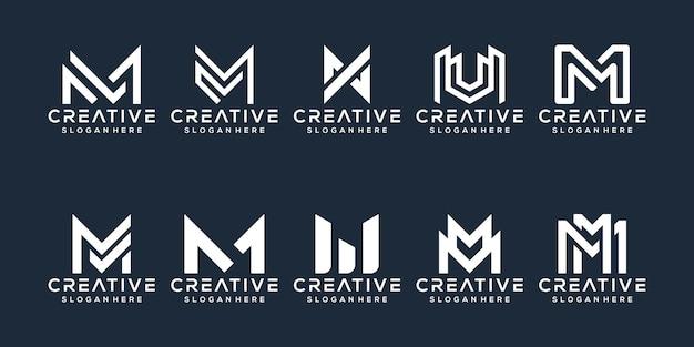Conjunto de diseño de logotipo letra a