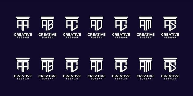Conjunto de diseño de logotipo de monograma