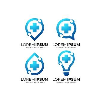 Conjunto de diseño de logotipo de servicio de reparación y mantenimiento.