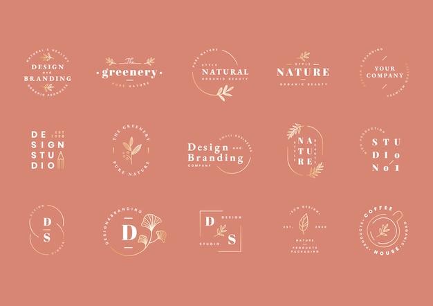 Conjunto de diseño de logotipo