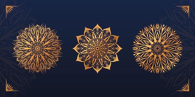 Conjunto de diseño de mandala de lujo