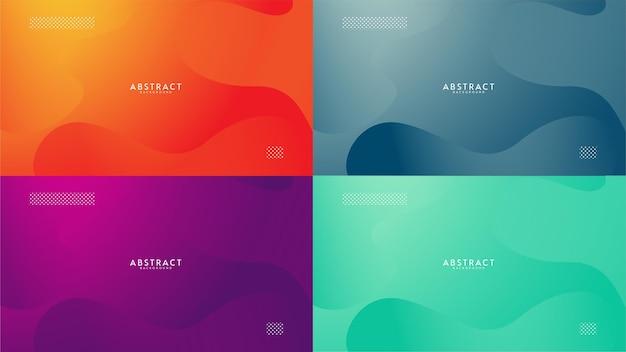 Conjunto de diseño de onda simple fondo de gradiente