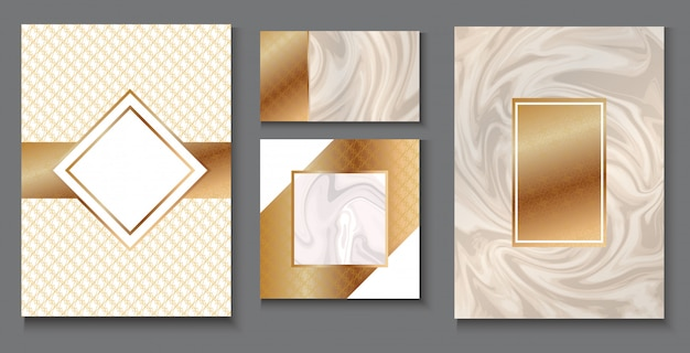 Conjunto de diseño de packaging vip, papelería de lujo para marca.