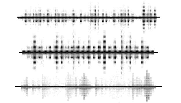 Conjunto de diseño de patrón de frecuencia de ecualizador de ondas de sonido de música