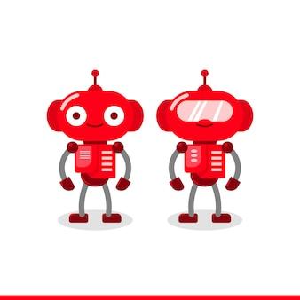 Conjunto de diseño de personajes robot.