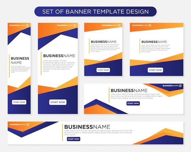 Conjunto de diseño de plantilla de banner
