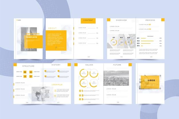 Conjunto de diseño de plantilla de folleto