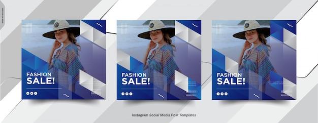 Conjunto de diseño de plantilla de publicación de medai social post de fashion-insta