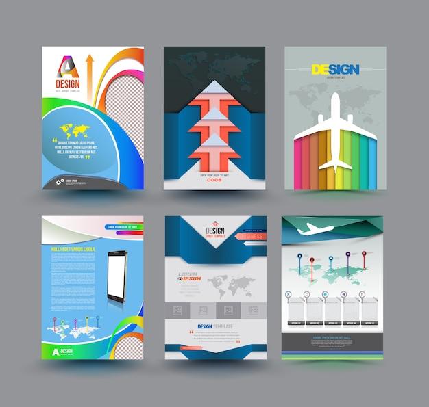 Conjunto de diseño de plantilla de vector de diseño abstracto
