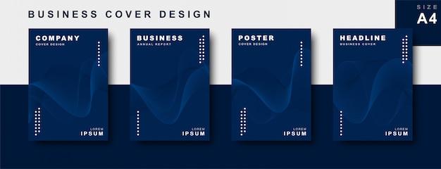 Conjunto de diseño de portada empresarial.