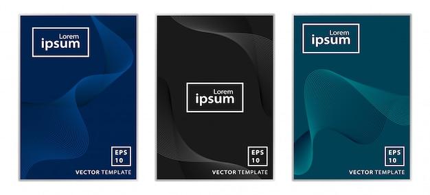 Conjunto de diseño de portada de folleto comercial mínimo