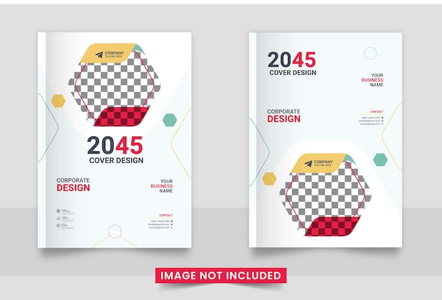 Conjunto de diseño de portada de libro corporativo listo para imprimir