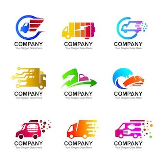 Conjunto de diseño de registro de camión