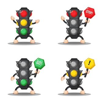 Conjunto de diseño de semáforo