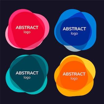 Conjunto de diseños de distintivos abstractos