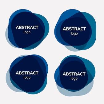 Conjunto de diseños de fondo abstracto