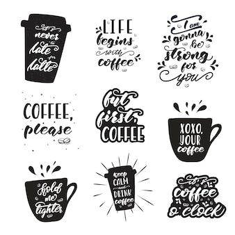 Conjunto de diseños de letras