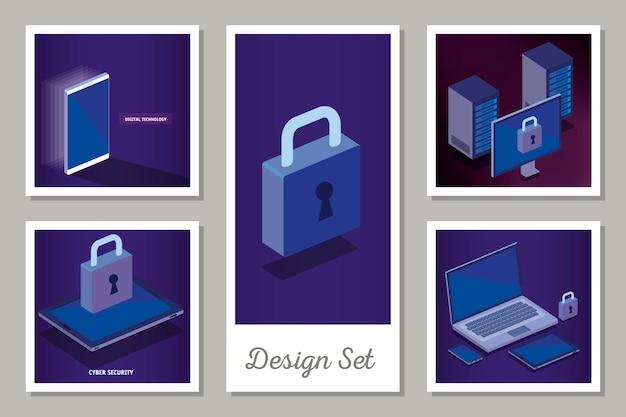 Conjunto de diseños de tecnología digital