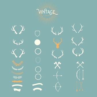 Conjunto de diseños vintage